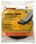 Thermwell R511H Black Rubber Foam Weatherseal, 1 x 5/16-In. x 10-Ft.