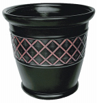 Suncast P181601E34 Planter, Brown Lattice Resin, 18 x 16.5-In.