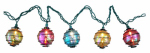 Luckytown Home Product RU-10563-9 String Light Set, Multi-Color Swirling Globe, 10-Ct.