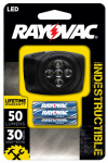 Spectrum/Rayovac DIYHL3AAA-BTA LED Headlamp, Indestructible, Battery-Operated