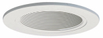 Cooper Lighting 993W Coilex Baffle, White With White Trim Ring, 4-In.