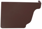 Genova Products AB102K Gutter End Cap, Left Hand, Brown, Must Order In Quant. of 5