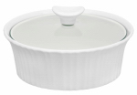 World Kitchen 1105932 1.5QT WHT Round Casserole