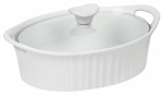 World Kitchen 1105929 1.5QT WHT Oval Casserol