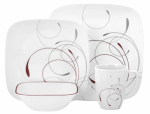 World Kitchen 1101053 Splendo Dinnerware Set, 16-Pc.
