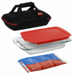 World Kitchen 1102266 Easy Grab Bakeware Set, Portable, 4-Pc.
