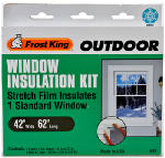 Thermwell V93H Outdoor Window Film Insulation Kit, 42 x 62-In.