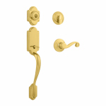 Kwikset 800ANXLL L03 SMT CP Signature Series Arlington Handleset, With SmartKey, Polished Brass