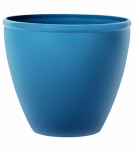 Suncast 1606N4 Planter, Blue Gloss Resin, 16-In.