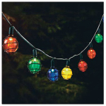 Luckytown Home Product RSO-12103 LED Solar String Light Set, Multi-Color Globe, 12-Ct.