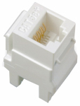 Pass & Seymour WP3450WH RJ45 Connector Fits Keystone Plates, Category 5E, White