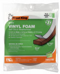 Thermwell V449BH 17-Ft. Brown Vinyl Foam Weather Strip Tape