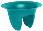 Bloem MR1832 Modica Rail Planter, Round, Sea Struck Blue, 18-In.