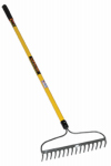 Seymour Mfg 42366 Structron Bow Rake, 16-Tine, 60-In. Fiberglass Handle