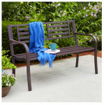 Imperial Power IP-D1812B Garden Bench, Brown Steel, 50-In.