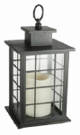 Northern International GL29169MB Patio Lantern, Battery-Operated, Black Plastic, 2.5 x 5.5 x 5.5-In.