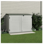 Suncast BMS4700 Storage & Garbage Can Shed, Resin, Holds Two 96-Gal. Containers, 70-Cu. Ft.