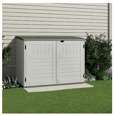 bms4700 storage and garbage can shed resin