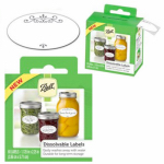 Jarden Home Brands 1440010734 Canning Jar Labels, Dissolvable, 60-Pk.