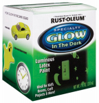 Rust-Oleum 214945 Glow-In-The-Dark Interior Latex Paint, 1/2-Pt.