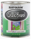 Rust-Oleum 243783 Tintable Chalkboard Latex Paint, Qt.