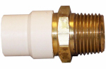 Genova Products 57605Z CPVC Transition Adapter, Lead-Free Brass, 1/2-In. FPT