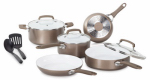 T-Fal/Wearever C944SA64 Pure Living Cookware Set, Ceramic Interior, 10-Pc.