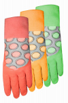 Midwest Quality Gloves 64D4-L EZ Grip Work Gloves, Rubber Coated, Assorted Colors, Women's Large