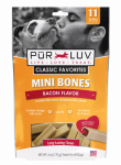 Sergeants Pet Care Prod 82285 Mini Bone Dog Treat, Bacon Flavor, 11-Ct., 6-oz.