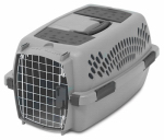 Petmate 21083 Pet Carrier, Light Gray, For 10-Lbs.