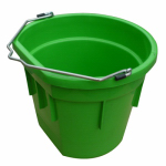 Qingdao Huatian Hand Truck MR20QP/FSB-LIME Utility Bucket, Flat Sided, Lime Green Resin, 20-Qts.