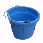 Qingdao Huatian Hand Truck MR8QP/FSB-BRYBLU Utility Bucket, Flat Sided, Blue Resin, 8-Qts.
