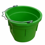 Qingdao Huatian Hand Truck MR8QP/FSB-GRN Utility Bucket, Flat Sided, Green Resin, 8-Qts.