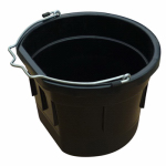 Qingdao Huatian Hand Truck MR8QP/FSB-BLK Utility Bucket, Flat Sided, Black Resin, 8-Qts.