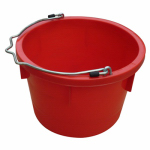 Qingdao Huatian Hand Truck MR8QP/UB-RED Utility Bucket, Red Resin, 8-Qts.