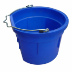 Qingdao Huatian Hand Truck MR8QP/FSB-BLUE Utility Bucket, Flat Sided, Blue Resin, 8-Qts.