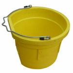 Qingdao Huatian Hand Truck MR8QP/FSB-YEL Utility Bucket, Flat Sided, Yellow Resin, 8-Qts.