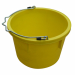 Qingdao Huatian Hand Truck MR8QP/UB-YELLOW Utility Bucket, Yellow Resin, 8-Qts.
