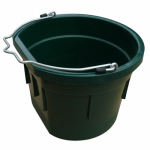 Qingdao Huatian Hand Truck MR8QP/FSB-DKGRN Utility Bucket, Flat Sided, Green Resin, 8-Qts.