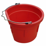 Qingdao Huatian Hand Truck MR8QP/FSB-RED Utility Bucket, Flat Sided, Red Resin, 8-Qts.