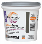 Custom Bldg Products PBG091-4 Sanded Repair Grout, Natural Gray, 1-Lb.