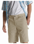 Williamson Dickie Mfg DX250RDS34 Carpenter Shorts, Relaxed Fit, Sanded Duck, Desert Sand, Men's 34 x 11-In. Inseam