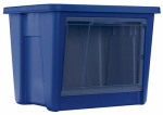Rubbermaid 1859803 Storage Tote, Front Access, Indigo Blue, 56-Qt., Must Order In Quantities of 4