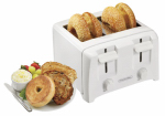 Hamilton Beach Brands 24610 4-Slice Toaster, White