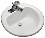 Mansfield Plumbing Products 239-4 WHT Self Rim Lavatory