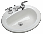 Mansfield Plumbing Products 237-4 Oval Self Rim Lavatory
