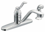 Moen/Faucets CA87528 Banbury Kitchen Faucet With Spray, Single Handle, Chrome Finish