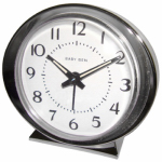 Nyl Holdings/Westclox 11611QA Alarm Clock, Battery-Operated, Silver