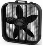 Lasko Products B20401 Box Fan, 3-Speed, Black, 20-In.