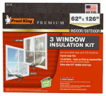 Thermwell V83/3 Window Insulation Kit, Indoors, Heavy Duty, 42 x 62-In. 3-Pk.